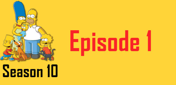 The Simpsons Season 10 Episode 1 TV Series