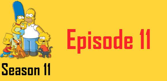 The Simpsons Season 11 Episode 11 TV Series