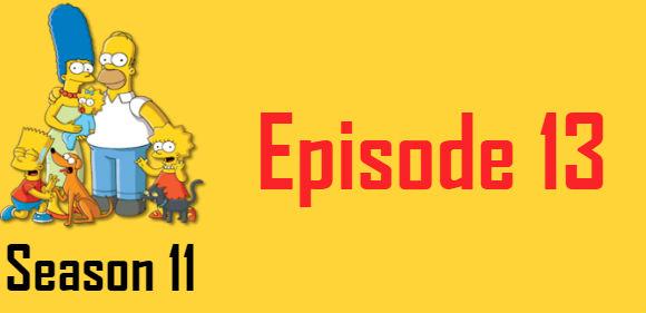 The Simpsons Season 11 Episode 13 TV Series