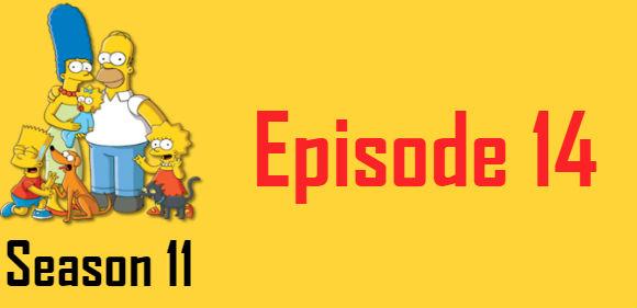 The Simpsons Season 11 Episode 14 TV Series