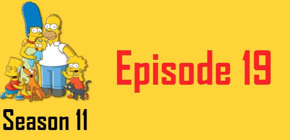 The Simpsons Season 11 Episode 19 TV Series