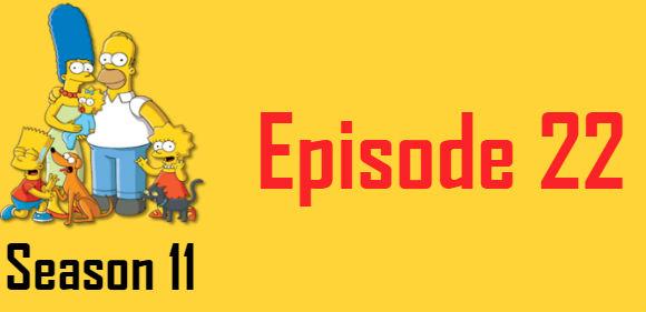 The Simpsons Season 11 Episode 22 TV Series