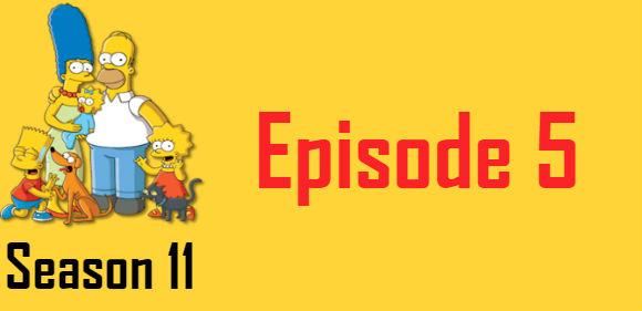 The Simpsons Season 11 Episode 5 TV Series