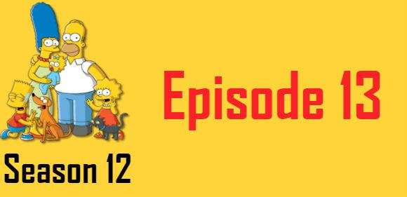 The Simpsons Season 12 Episode 13 TV Series