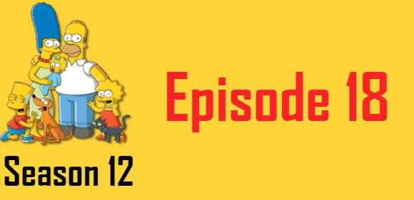 The Simpsons Season 12 Episode 18 TV Series