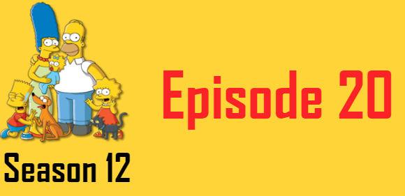 The Simpsons Season 12 Episode 20 TV Series