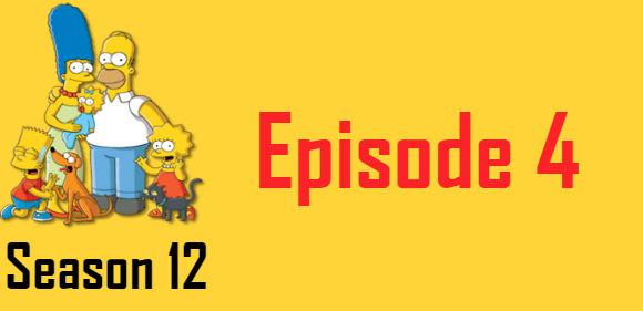 The Simpsons Season 12 Episode 4 TV Series
