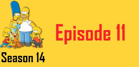 The Simpsons Season 14 Episode 11 TV Series