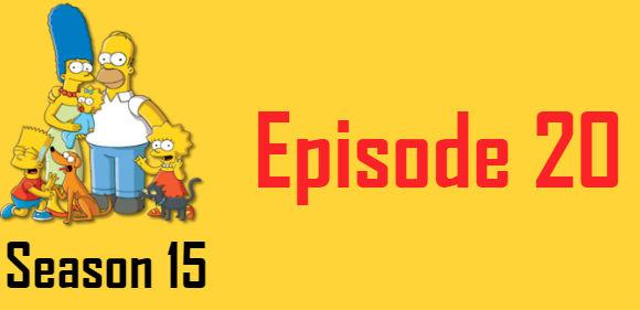 The Simpsons Season 15 Episode 20 TV Series
