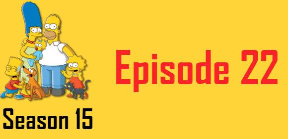 The Simpsons Season 15 Episode 22 TV Series