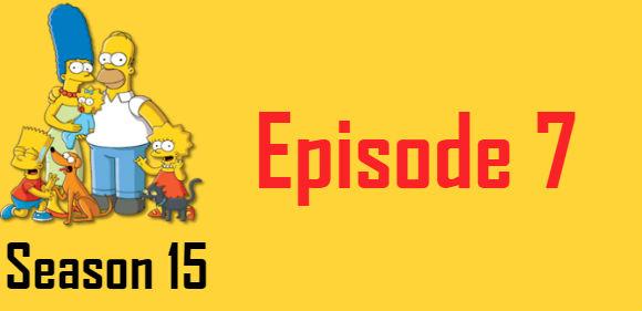 The Simpsons Season 15 Episode 7 TV Series