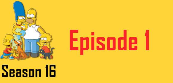 The Simpsons Season 16 Episode 1 TV Series