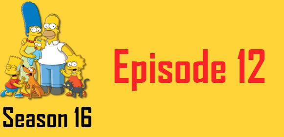 The Simpsons Season 16 Episode 12 TV Series