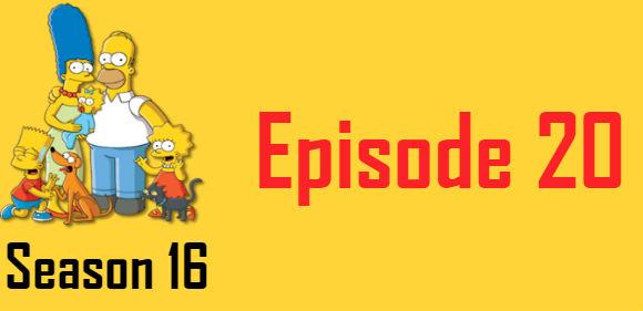 The Simpsons Season 16 Episode 20 TV Series