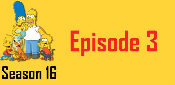The Simpsons Season 16 Episode 3 TV Series
