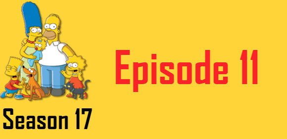 The Simpsons Season 17 Episode 11 TV Series