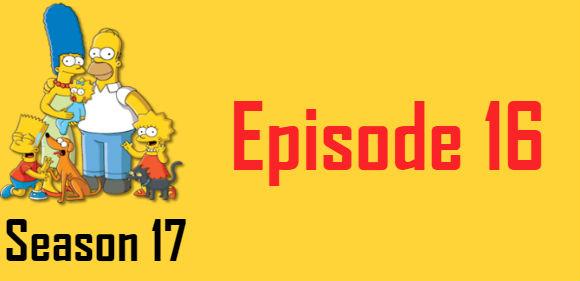 The Simpsons Season 17 Episode 16 TV Series