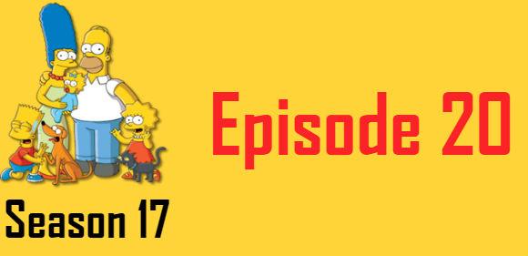 The Simpsons Season 17 Episode 20 TV Series