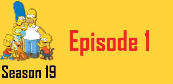 The Simpsons Season 19 Episode 1 TV Series