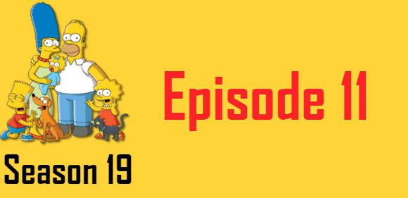 The Simpsons Season 19 Episode 11 TV Series