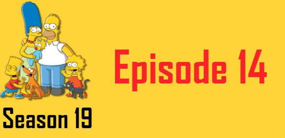 The Simpsons Season 19 Episode 14 TV Series