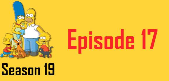 The Simpsons Season 19 Episode 17 TV Series