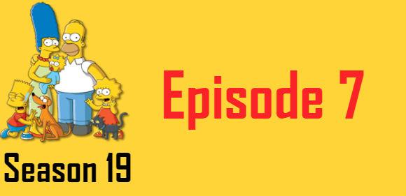 The Simpsons Season 19 Episode 7 TV Series