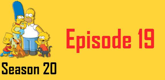 The Simpsons Season 20 Episode 19 TV Series