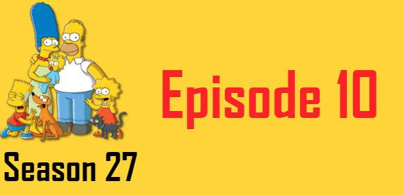 The Simpsons Season 27 Episode 10 TV Series