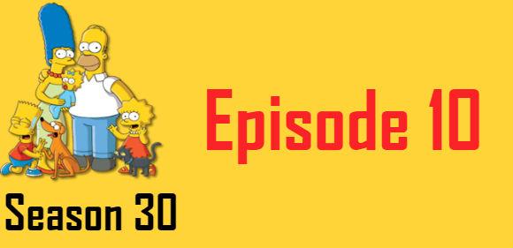 The Simpsons Season 30 Episode 10 TV Series