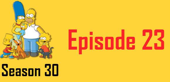 The Simpsons Season 30 Episode 23 TV Series