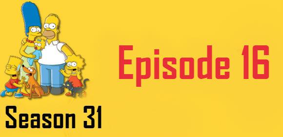 The Simpsons Season 31 Episode 16 TV Series