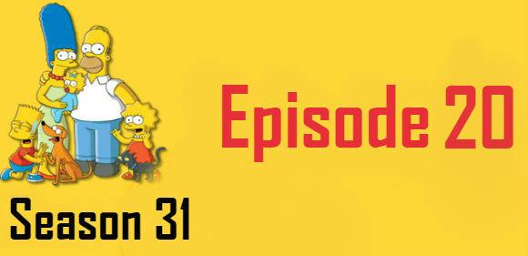 The Simpsons Season 31 Episode 20 TV Series