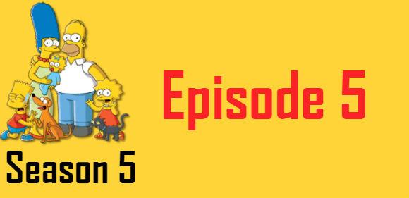 The Simpsons Season 5 Episode 5 TV Series