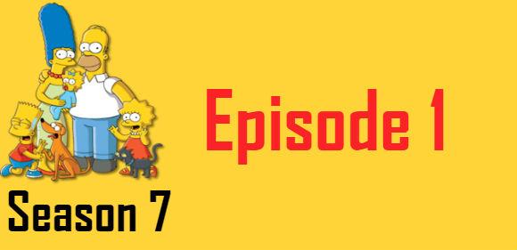 The Simpsons Season 7 Episode 1 TV Series