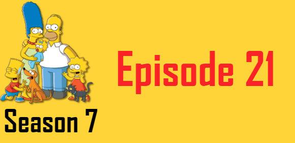 The Simpsons Season 7 Episode 21 TV Series