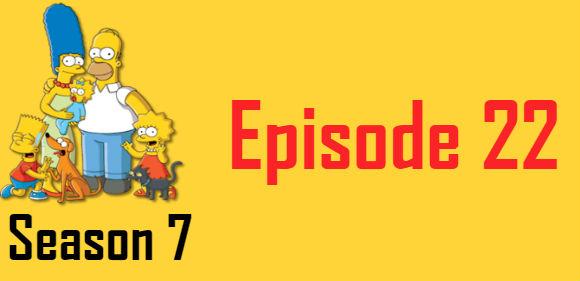 The Simpsons Season 7 Episode 22 TV Series