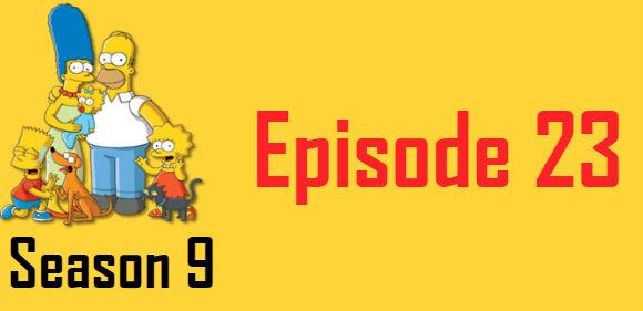 The Simpsons Season 9 Episode 23 TV Series
